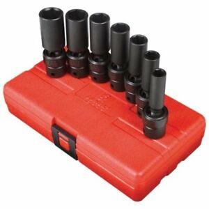 Sunex-3656-7-piece-3-8-In-Drive-Deep-Fractional-Sae-Universal-Impact-Socket-Set