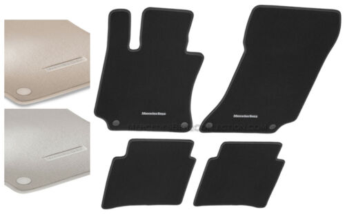 W212 Mercedes-Benz Genuine OEM Carpeted Floor Mats 2010 to 2016 E-Class Sedan
