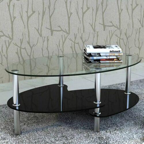 Couchtisch Beistelltisch Glastisch 3 Platte schwarz A9T5