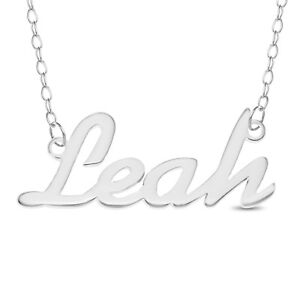 925 Sterling Silver SIENNA Name Necklace Womens Girls Pendant Gift Ready Stock