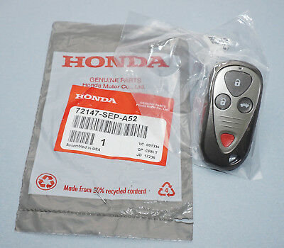 NEW IN BAG OEM 04-08 ACURA TL TSX KEYLESS REMOTE FOB OUCG8D-387H-A 72147-SEP-A52