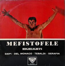 MEFISTOFELE~SIEPI~DEL MONACO~TEBALDI~SERAFIN~BOITO~SXL 2192 (WBg ED1)~VINYL~EX+