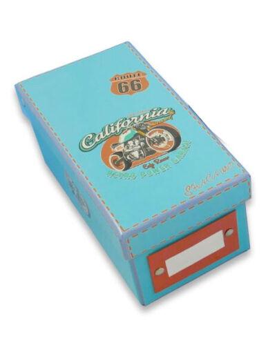 """incl /""""Route 66/"""" Lernbox DIN A8 Karteikasten 400 Karteikarten"""