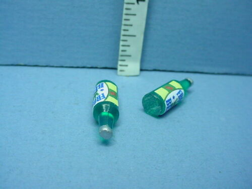 #FA40090 Miniature Beer Bottles 2 Acrylic -Solid 1//12th Scale
