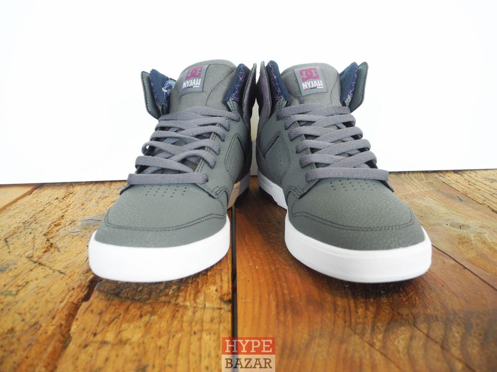 DC Zapatos Nyjah High Co zapatos/cortos nuevo Gris-Morado DC Zapatos Co High 55a968