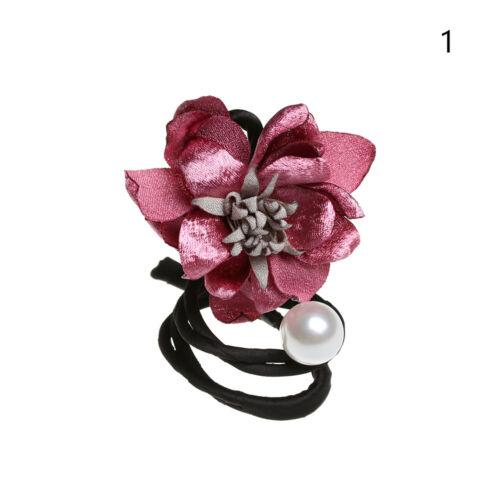 women ball hair Pearl Flower Hair Accessories Head band hair rope head dress