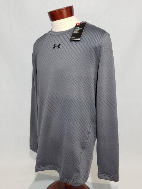 6d6fd160 Under Armour ColdGear Jacquard Men's 2XL Compression Shirt Grey NWT coldgear