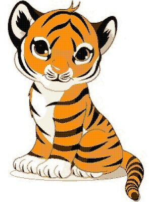 Tiger Paire Nº 5-Cross stitch Chart