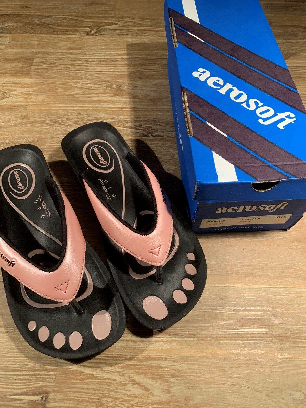 Sandaler, str. 37, Aerosoft, Pink, Ubrugt
