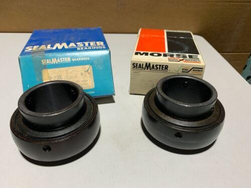 "1 One SealMaster 2-27 Ball Insert Bearing Round Bore Standard Duty 2 7//16/"" NOS"