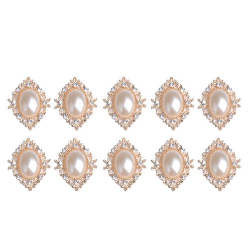 10er set vintage retro perlas Flatback adornos bricolaje decorativas DIY joyas