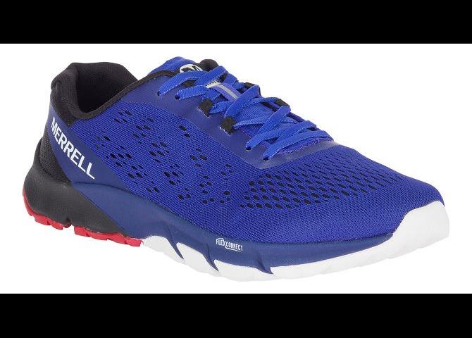 nouveau Hommes Merrell Bare Access Flex 2 bleu Surf The Web Vegan E-engrener Trainer Chaussures