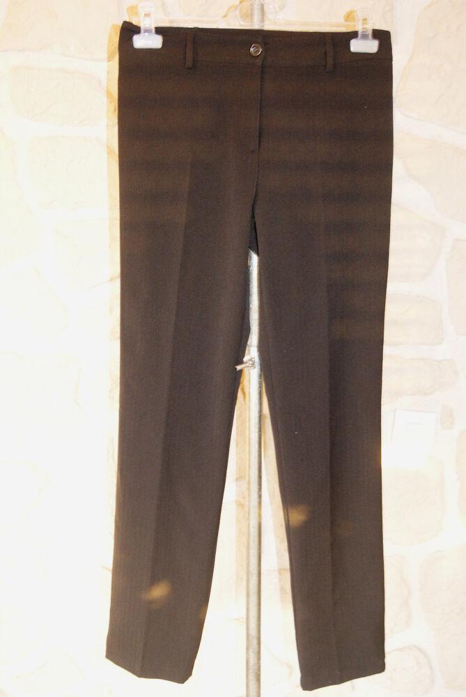 Enthousiaste Pantalon Noir Neuf Taille 38 Marque Charming Girl (étiqueté 39 Euros) Bas Prix