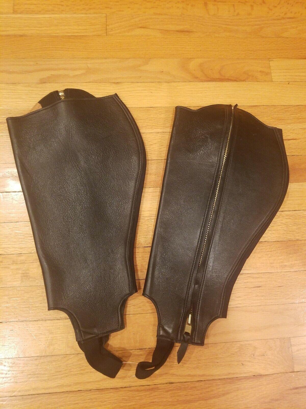 Tenney's Saddlery medio Chaps, Cuero  Negro  Precio por piso