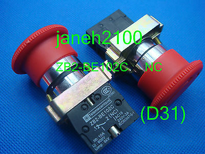 20pc Telemecanique ZB2-BE101C Emergency Stop N//O N//C Push to Stop Switch B133