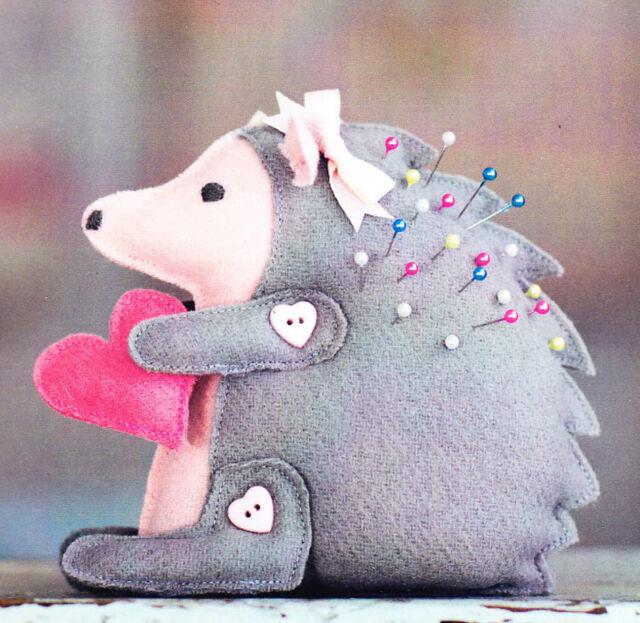PATTERN - Bitty Hedgehog - cute wool pincushion PATTERN - Bunny Hill designs