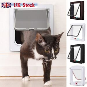 Dog-Cat-Mate-4-Way-Locking-Large-Cat-Small-Dog-Flap-White-Catflap-Pet-Door