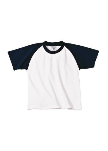 Boys Girls Sports Tee B/&C Collection Kid/'s Baseball Short Sleeve T-Shirt TK350