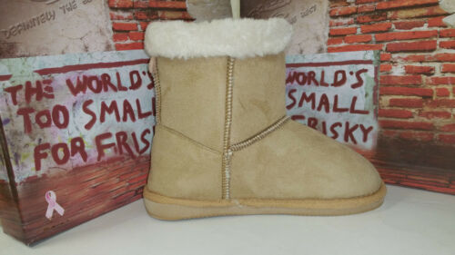 Frisky Tan Faux Suede Girls Youth/'s Snow Winter Shoes Boots size 11-4 F9511