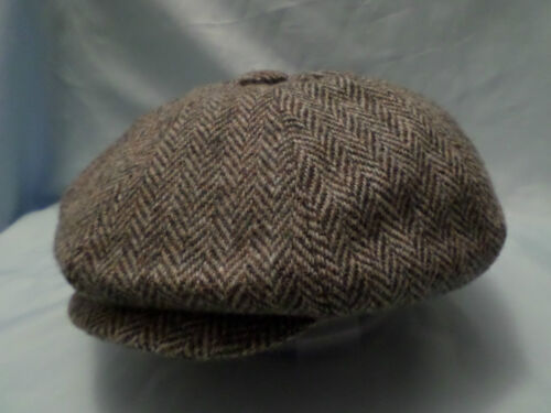 EN ÉPI HARRIS TWEED HAT 100% WOOL VENDEUR DE JOURNAUX VICTORIEN PEAKY BLINDERS