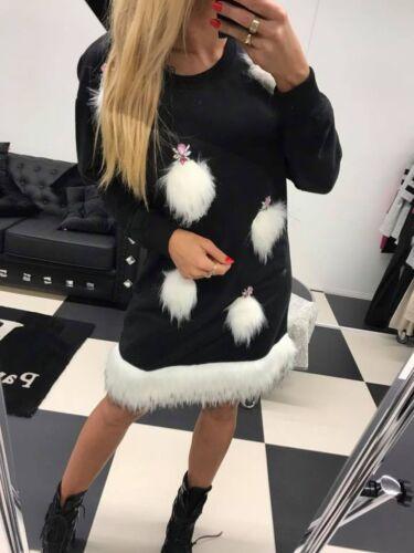 Paparazzi Damenkleid Partykleid Minikleid Longpulli Tunika Longshirt 36-38 #P73