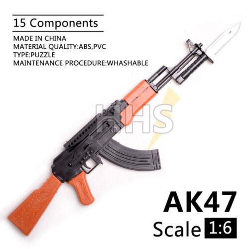 SCALA 1/6 AK47 FUCILE D'ASSALTO PER 12 Action Figure modello ARMA Pistola Esercito Soldato