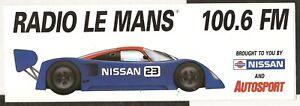 RADIO-LE-MANS-1990-NISSAN-R90-CP-AUTOSPORT-ORIGINAL-PERIOD-STICKER-AUTOCOLLANT
