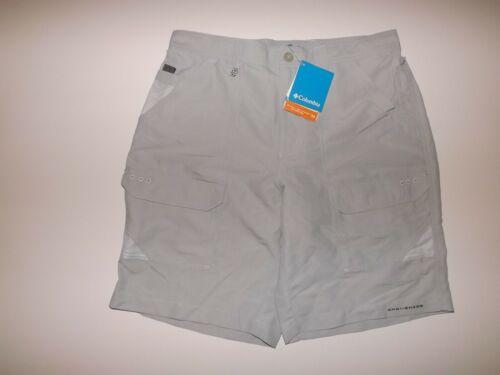 Columbia Mens Permit II Cargo Hiking Shorts Light Gray Navy Blue 32 34 36