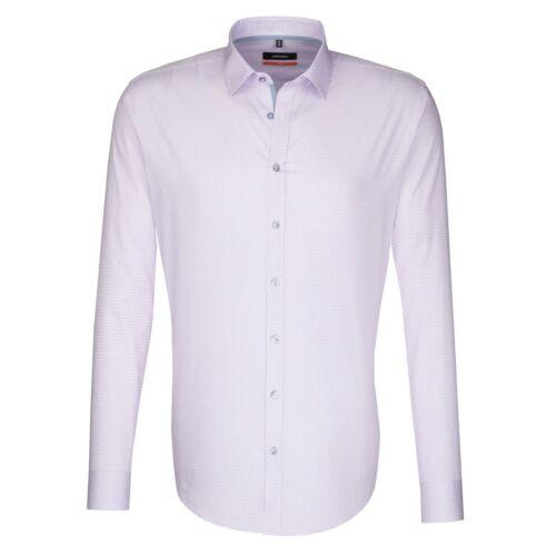 Seidensticker Uomo Camicia Manica Lunga Slim Print Kent rosa//Rosé struttura 676436.43