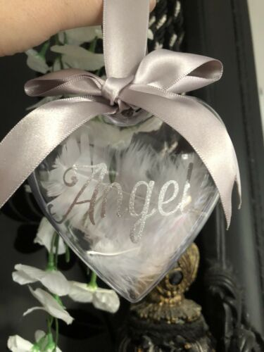 *Best Seller personalised memorial,rememberance decoration.Heart Shaped Baubles