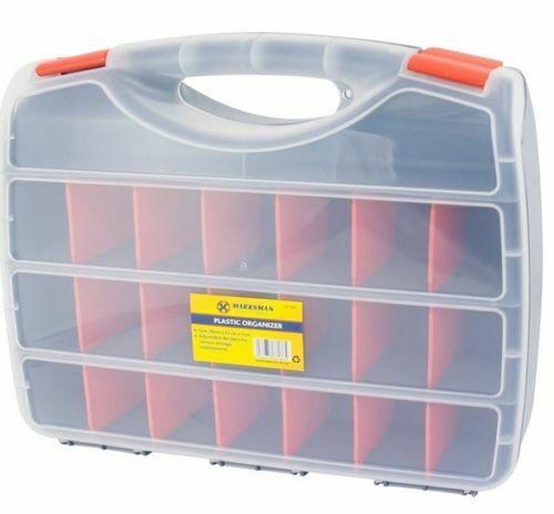 Plastique Outil Organisateur 38 cm x 31 cm x 7 cm//40 cm x 30.5 cm x 6.2 cm devider de conservation