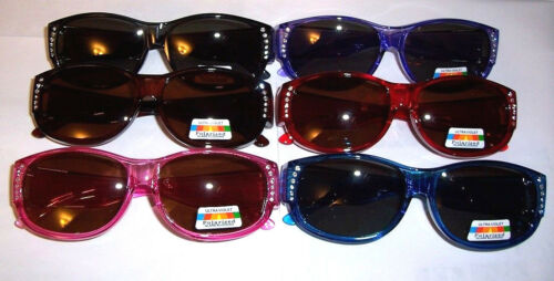 TAC POLARIZED FITS  OVER RX   CHOOSE YOUR COLOR   W// RHINESTONES
