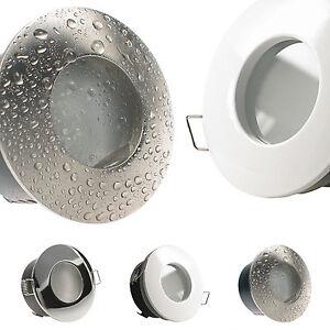 decken einbaustrahler ip65 f r led halogen bad 12v 230v ohne leuchtmittel nautic. Black Bedroom Furniture Sets. Home Design Ideas