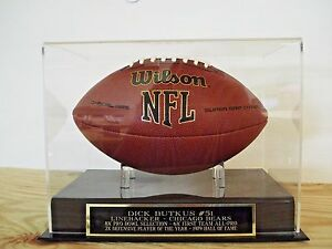 Football-Display-Case-With-A-Dick-Butkus-Chicago-Bears-Engraved-Nameplate