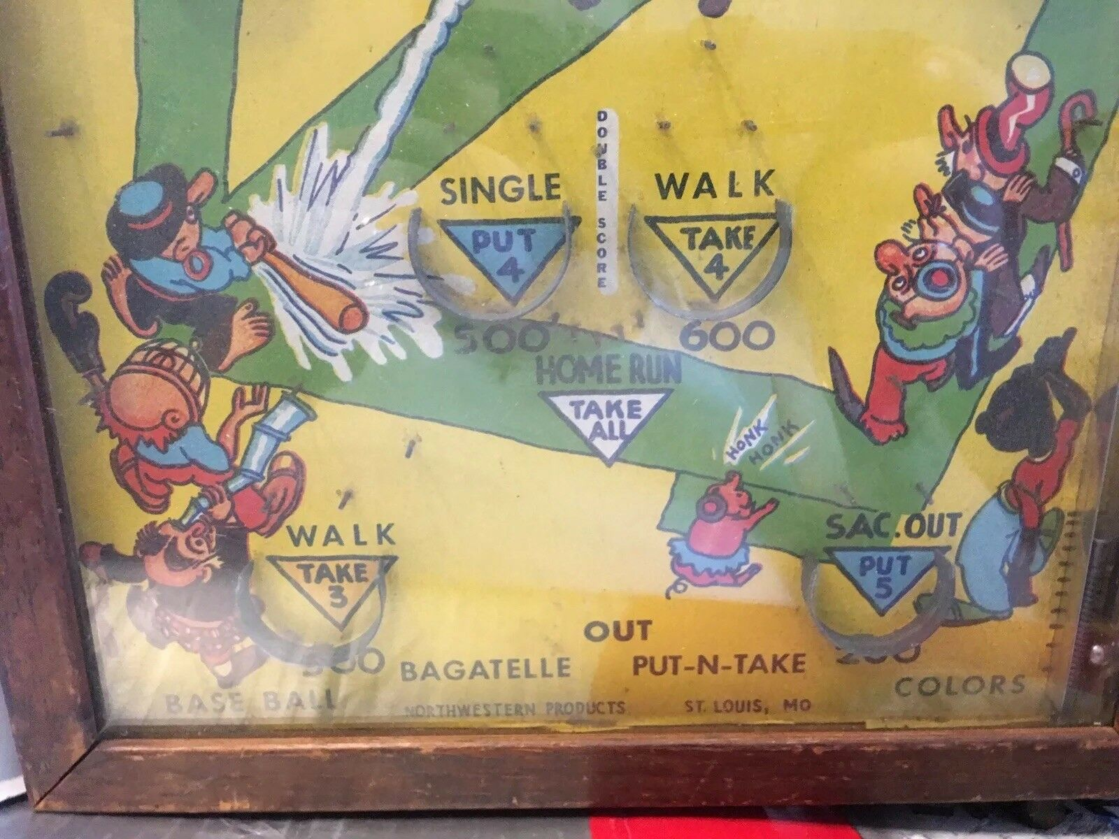 Vintage 1930's Poosh-M-Up Jr. 4-in-1 Table Top Pinball Baseball Baseball Baseball Game   ee2000