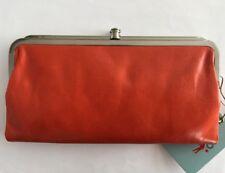 nwt hobo international lauren double frame clutch wallet leather grenadine - Double Frame Clutch Wallet