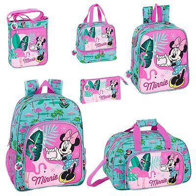 Disney Minnie Mouse Flamingo Backpack School Bag Travel Rucksack Kids Lunch Bag