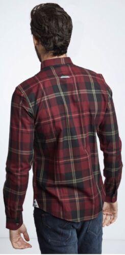 Mish Mash Kain Burgundy BIG Size Shirt £22.99 rrp £50 2xl 3xl 4xl 5xl 6xl