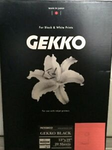 "Pictorico Gekko Black, For Black & White Prints (13"" x 19""), 9 Sheets"