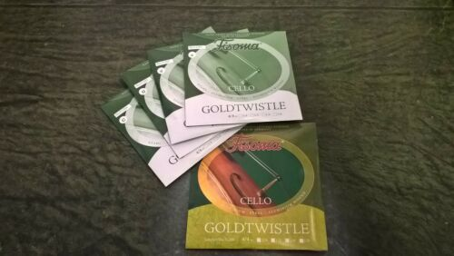 Fisoma Goldtwistle Steel Aluminium wound CELLO string set medium 4//4 BTS!