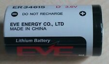 Batteria Al Litio Size D R20 3, 6V Volt ER34615 EVE 19000mAh NUOVO