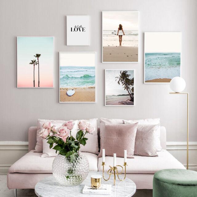 Australia Beach ocean sunset surf photo print canvas poster tropical art
