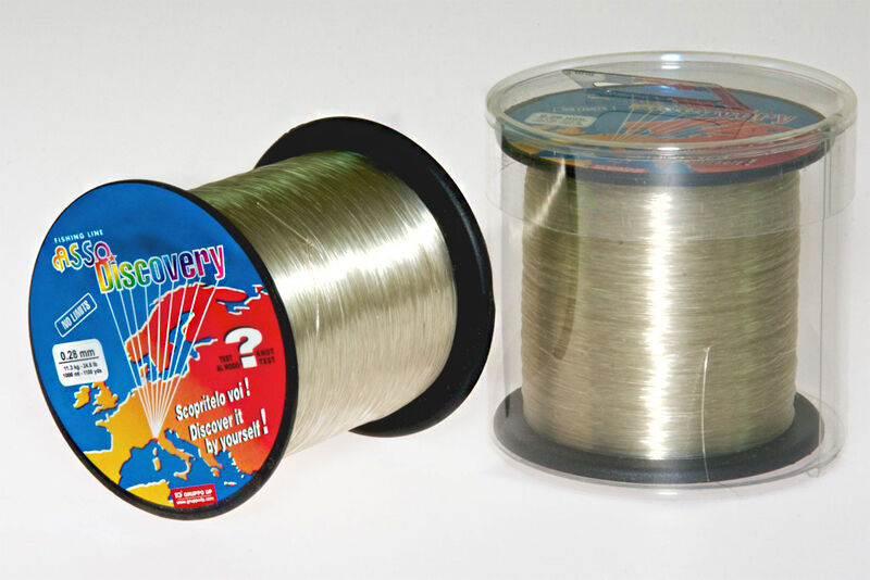 Asso Discovery Coated Flugoldcarbon Fishing Line 1000 m Spools Sizes Pike New