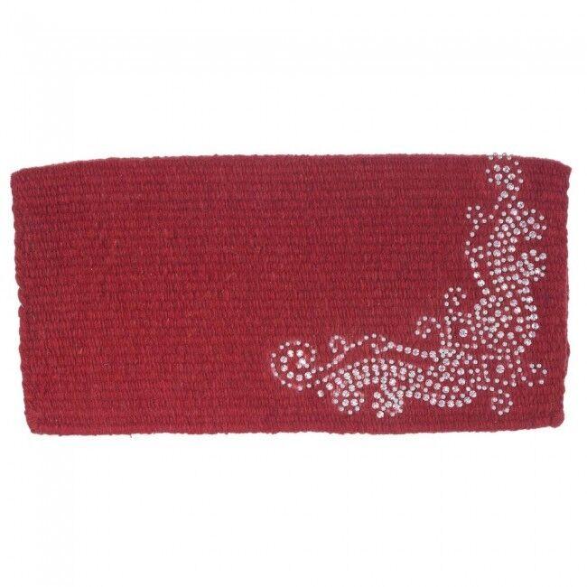 Tough-1 Ornate Wool Mini Saddle Blanket - Miniature Pad - RED - 19x19 - NWT