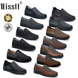 men's leather casual shoes breathable antiskid loafers