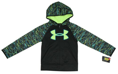 Under Armour Boys Zip Up Hoodie Jacket Fleece Size 4 5 6 7 New w//Tags