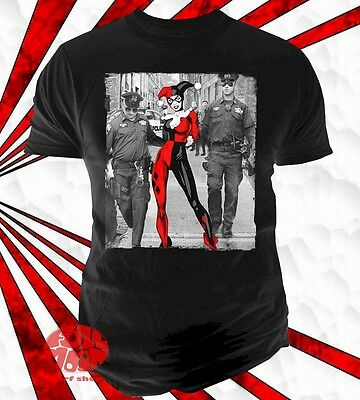 Harley Quinn Smashing Poster Joker Batman DC Comics Licensed Black Mens T-shirt