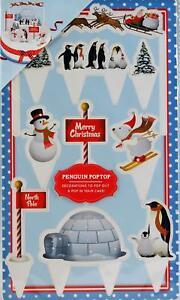 Set-De-Pastel-De-Navidad-Decoracion-Penguin-Pop-Top-escena-Setters