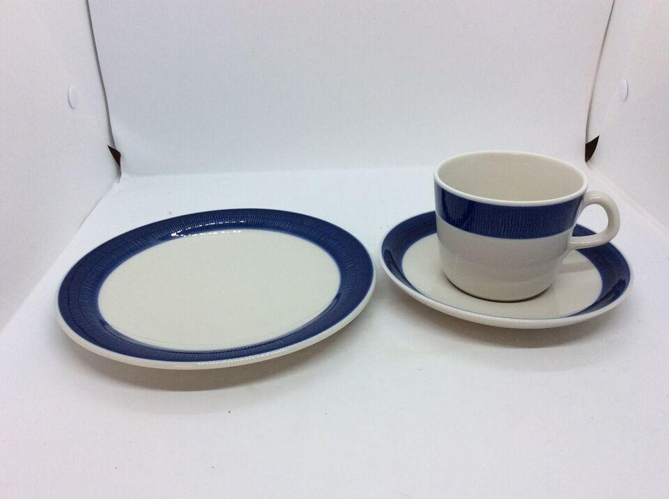 Porcelæn, 8sæt Kaffe-Underkop-Desserttallerken,