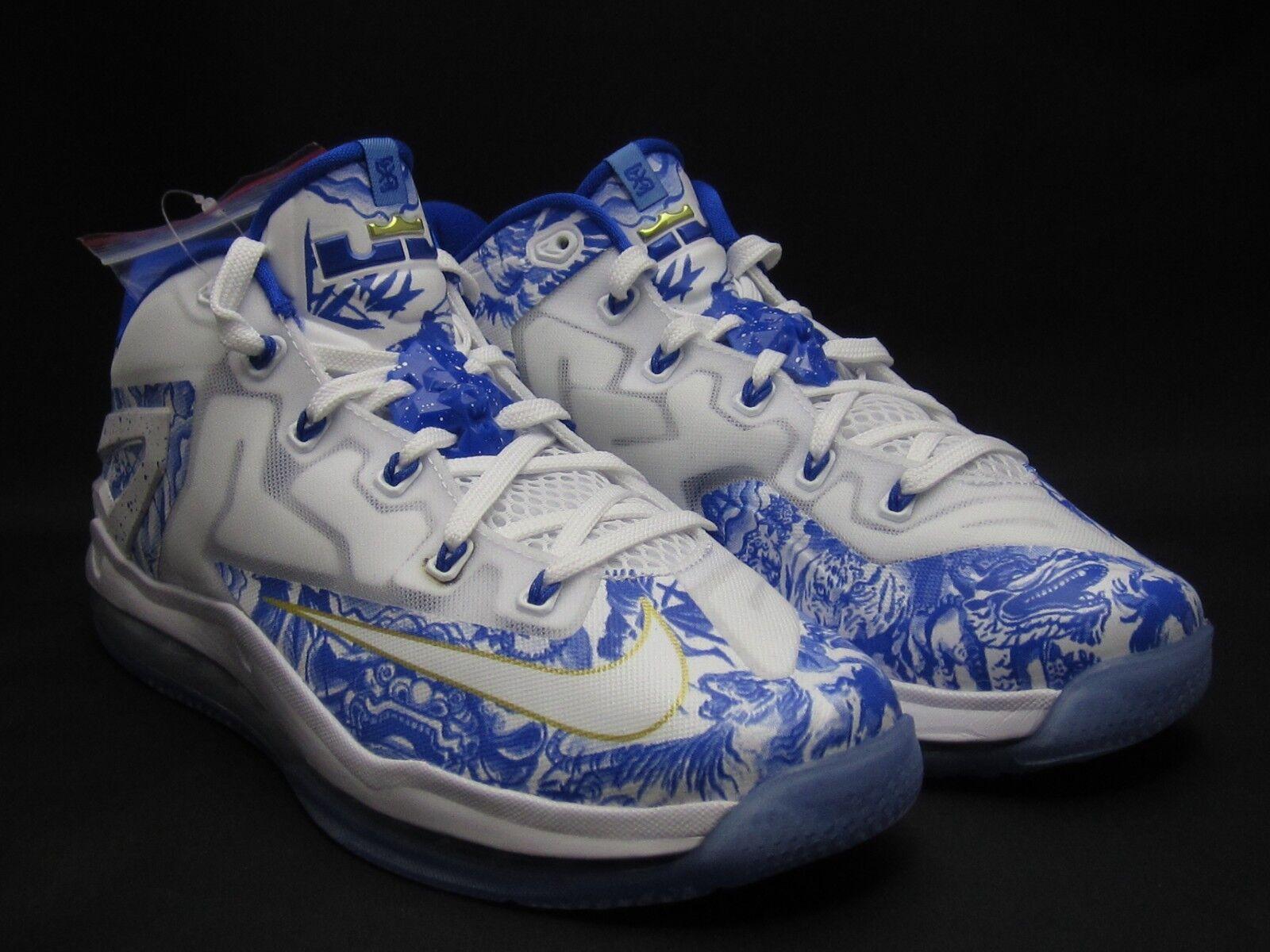 2018 Nike Max LeBron XI baja China China China Pack 9,5 blanco azul cobalto 683253-144 Ch 11 ds el mas popular de zapatos para hombres y mujeres f6ba39